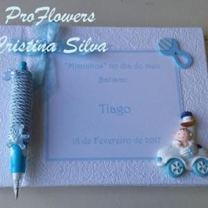 Livro de honra personalizado com caneta