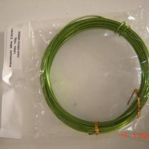 Arame aluminio 2mm 12mt Verde