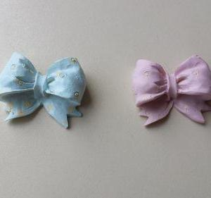 Laço em resina azul ou rosa