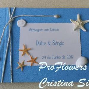 Livro de honra azul 28x21cm com personalização