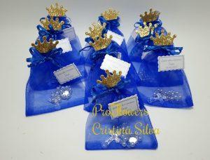 Vela + concha de Batismo em azulão 1