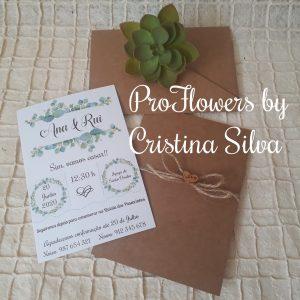 Convite rustico floral