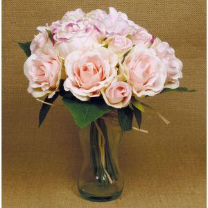 Ramo noiva artificial rosa claro
