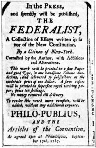 A separação de poderes para Os Federalistas