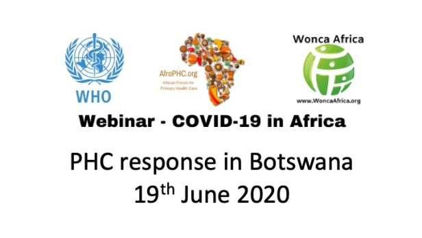 Webinar COVID19 in Africa Botswana 19th June