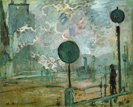 La Gare St Lazare à l'extérieur (le signal), 1877