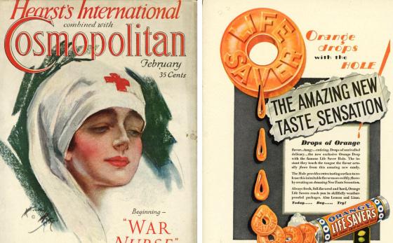 """Une du """"Cosmopolitan"""" de février 1930 - Harrison Fisher"""