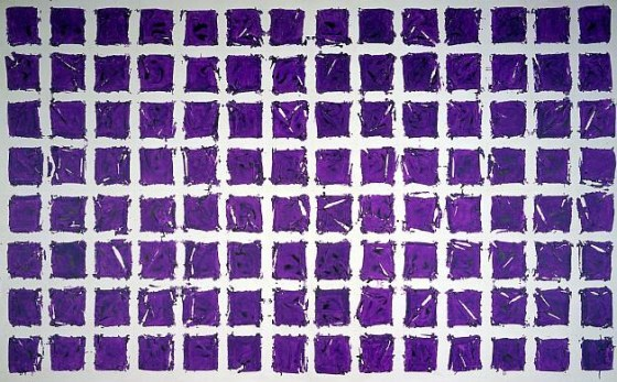 """Tabula (Violet)"", Simon Hantaï, 1981 © Paul Rodgers / 9W Gallery"