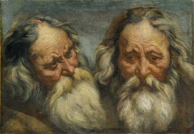Jacob Jordaens, Double étude de tête de vieillard