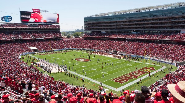 """File:Broncos vs 49ers preseason game at Levi's Stadium.jpg"" by Jim Bahn is licensed under CC BY 2.0"