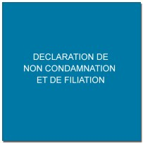 declaration de non condamnation et de filiation