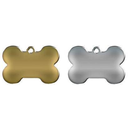 Billede af hundetegn formet som kødben i alle farver.