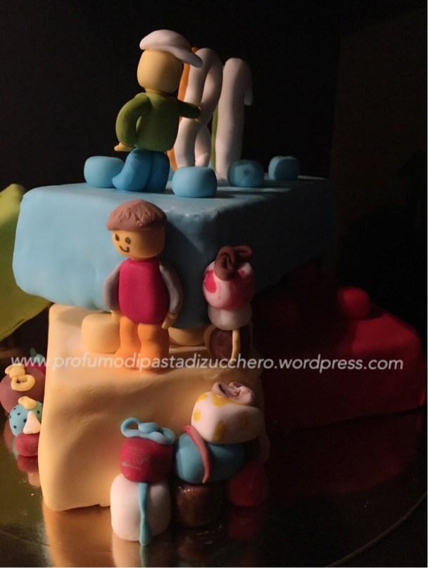 La torta vista di lato