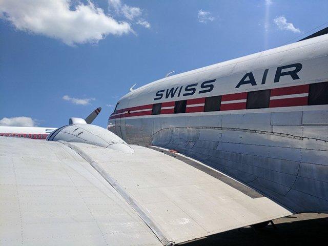 Avión museo suiza