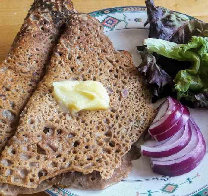 Savory Gluten Free Pancakes /Amboli