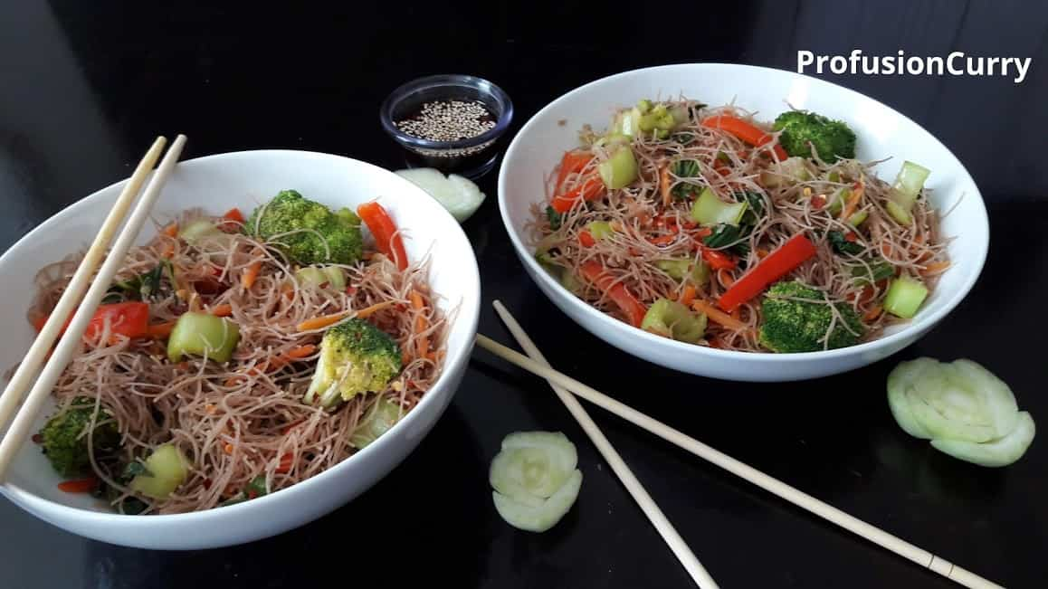Wok Fried Spicy Noodles/ Glutenfree/ Vegetarian