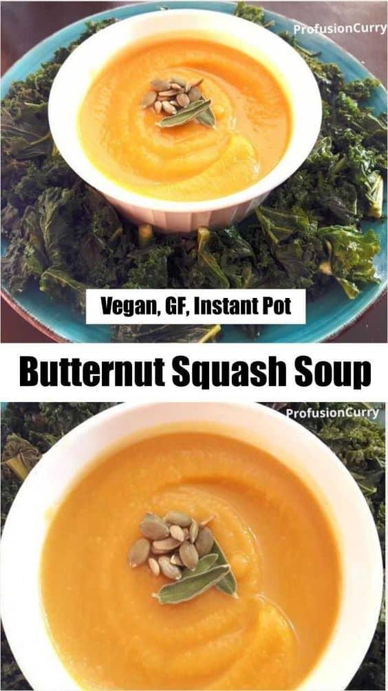 Butternut Squash Soup -InstantPot-ProfusionCurry