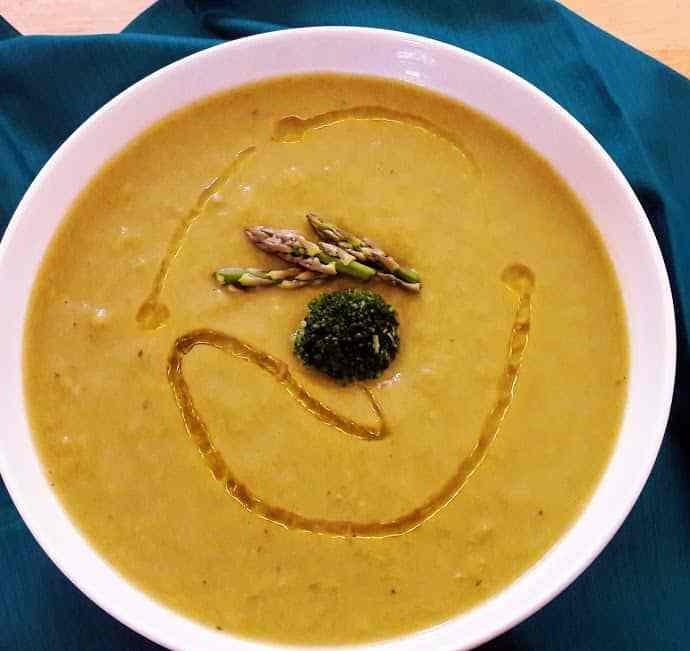 Asparagus Broccoli Soup Recipe -InstantPot-Vegan-Gluten Free