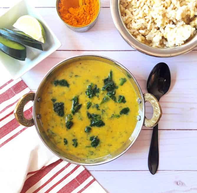 Dal Palak – Spinach Lentil Curry – InstantPot, Vegan