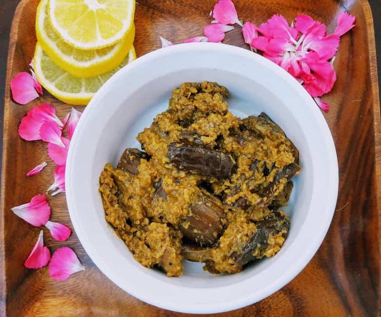 Bharali Vangi-Stuffed Baby Eggplants With Coconut, Peanuts – InstantPot