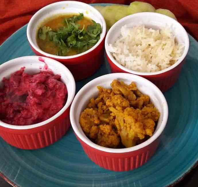 Colorful Easy Thali-InstantPot-Glutenfree