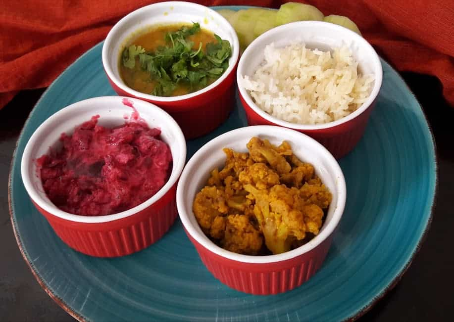Colorful Easy Thali-InstantPot-Glutenfree