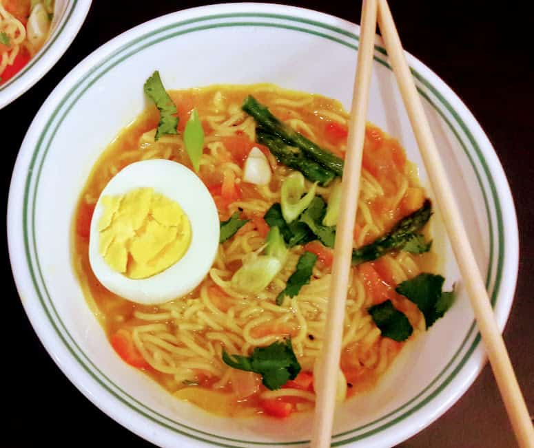 Spicy Rice Ramen Soup