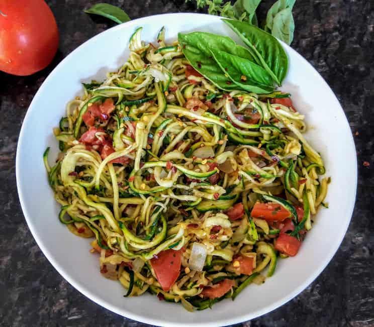 Italian Style Zoodles-Zucchini Noodles-GF-Vegan