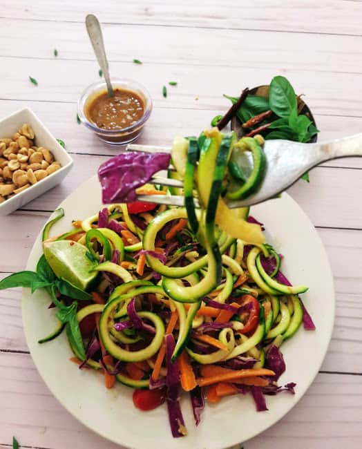 Thai Zucchini Noodles -Keto
