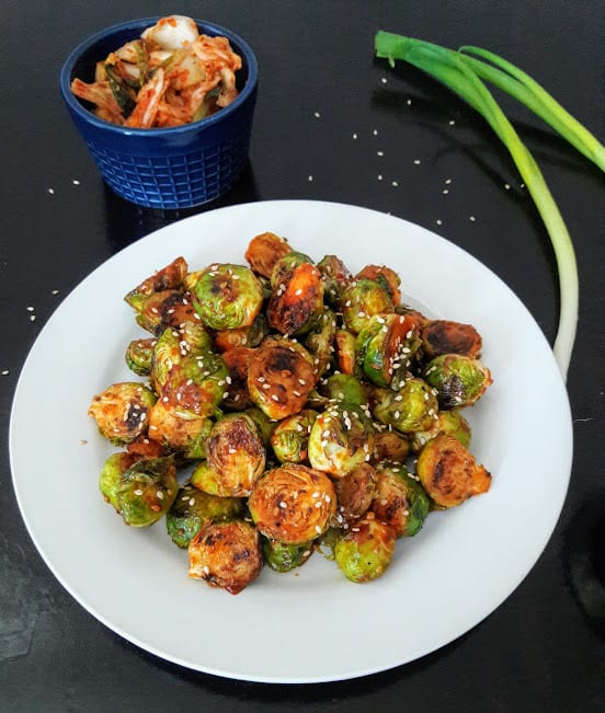 Gochujang Spiced Korean Brussels Sprouts Recipe
