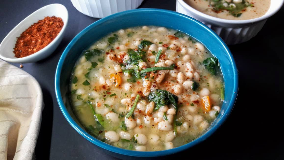 White Bean and Spinach Soup-InstantPot-ProfusionCurry