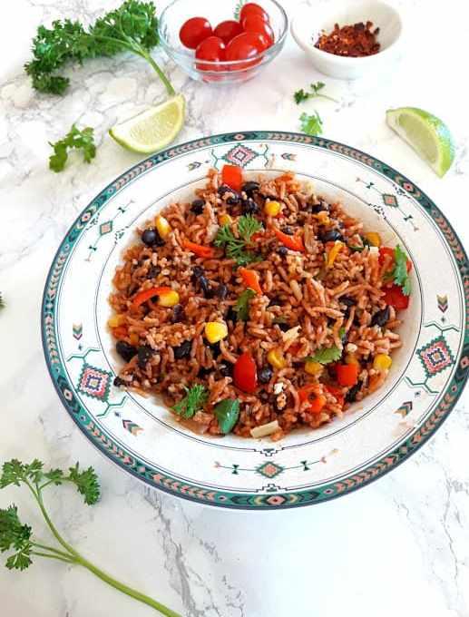 InstantPot Enchilada Rice Bowl