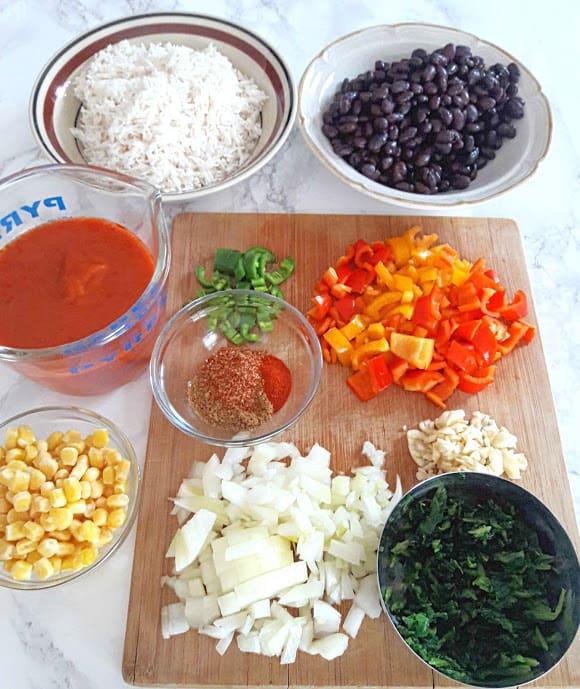 Ingredient needed to make Vegan Enchilada Rice in Instantpot