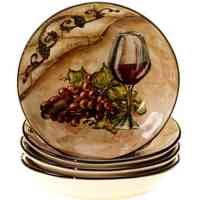 Certified International Tuscan View Soup/Pasta Bowl, 9.5-Inch, Set of 4