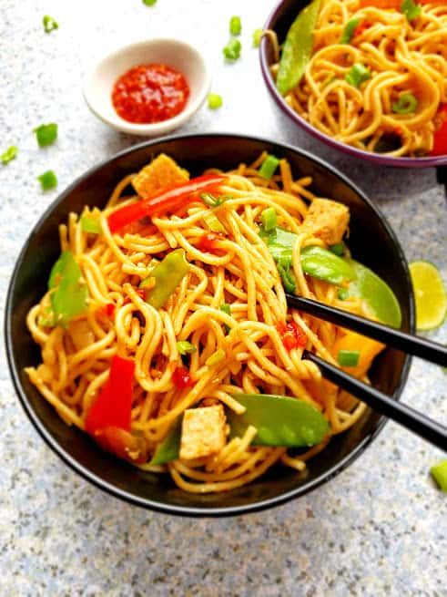 Chili Garlic Chinese Noodles