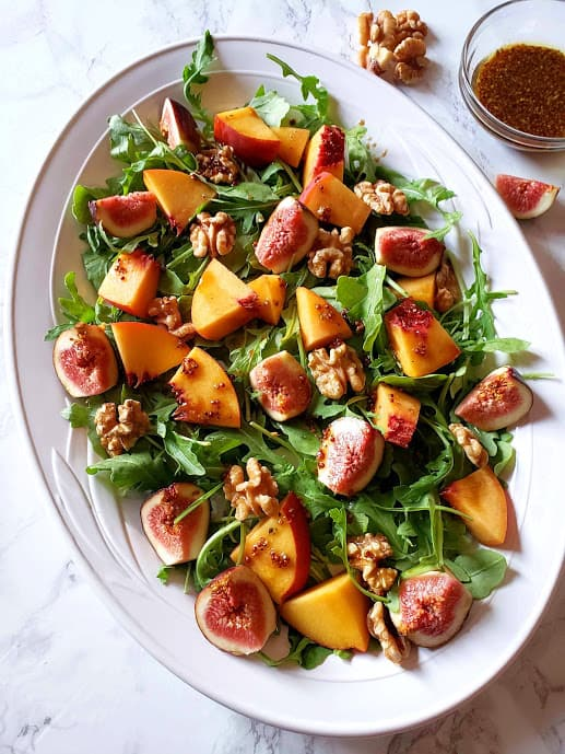 Fig Arugula Salad With Maple Vinaigrette