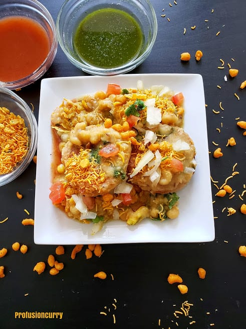 Ragda Patties - Ragda Pattice - Indian Street snack - chat - Instantpot