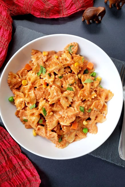 Makhani Masala Pasta Recipe – Instantpot and Stovetop Instructions
