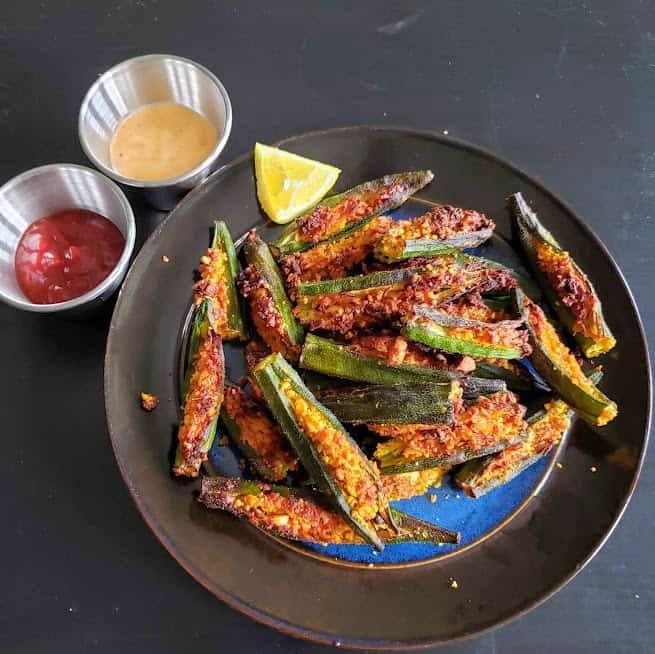 Stuffed Okra – Bharwa Bhindi – Air Fryer Recipe