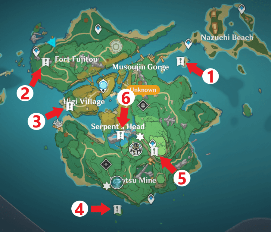 If you plan to explore the island, it is wise to complete the oribashi's legacy quest first since there's a constant danger that the lightning. All Simple Tomb Locations In Genshin Impact Pro Game Guides