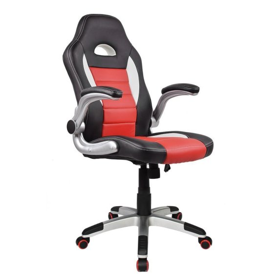 image of red racing chair