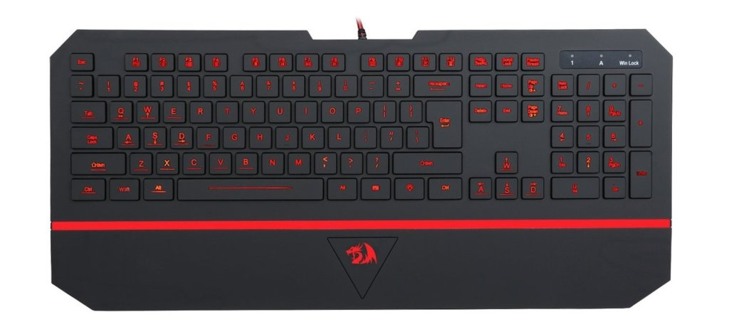 Close up of the new 2017 Reddragon keyboard