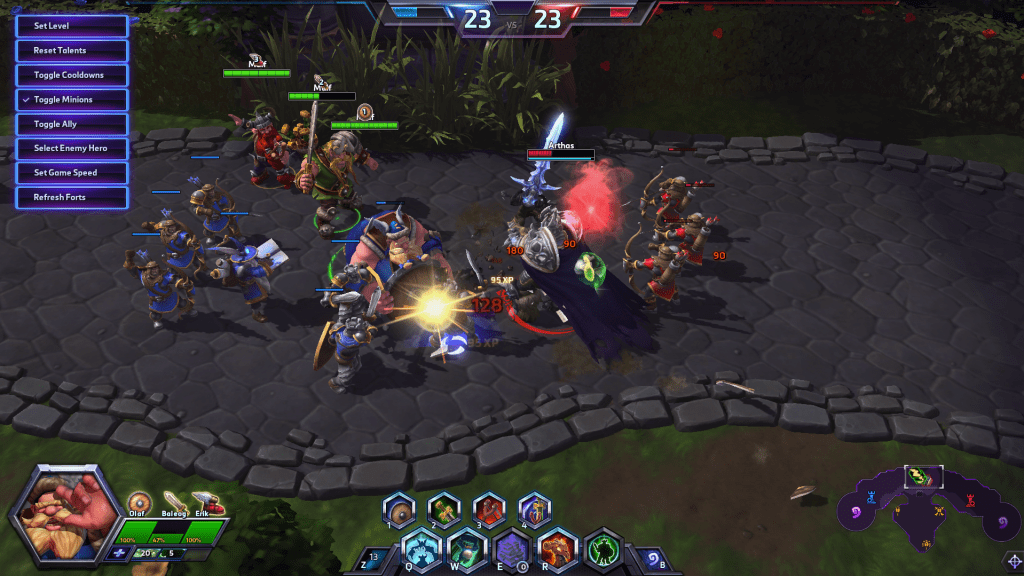Ingame screenshot of heroes of the storm