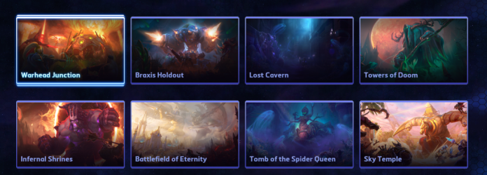 Screenshot of hereos of the storm maps