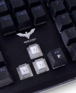 Image of mecha-membrane keyboard switches