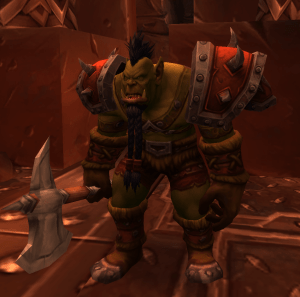 Image of an orc grunt from Warcraft universe