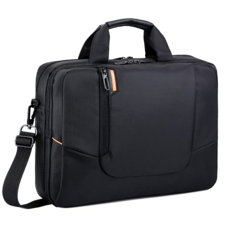 Image of black nylon pc shoulder bag