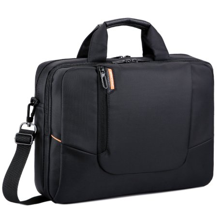 Image of black nylon pc shoulder bag