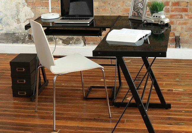 image of glass office desk