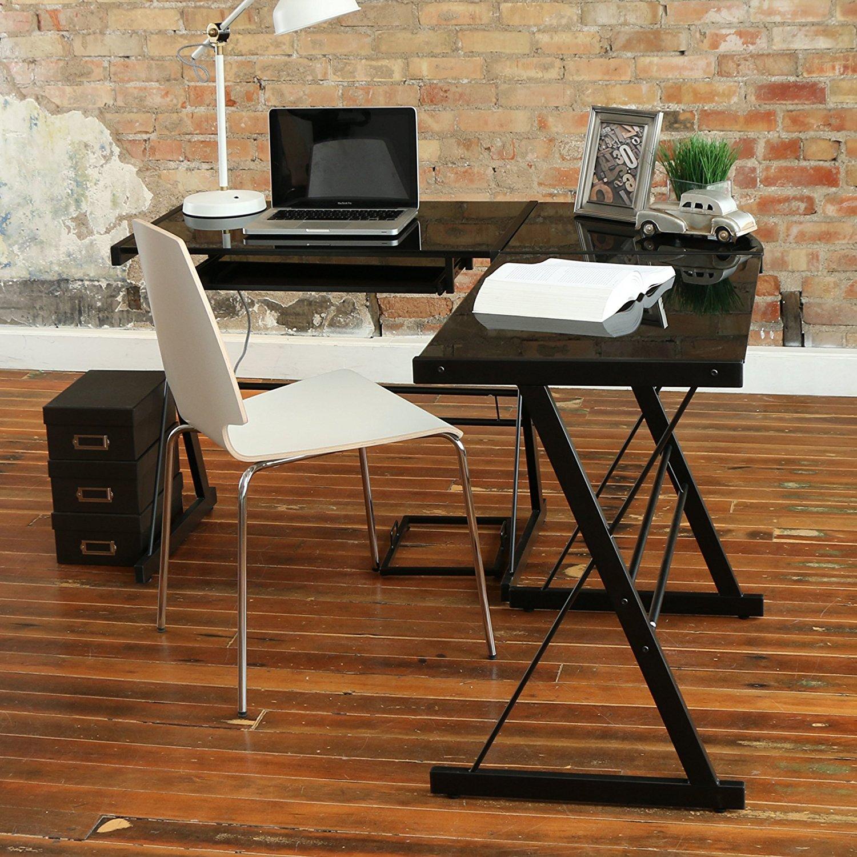 ... Image Of Glass Office Desk ...